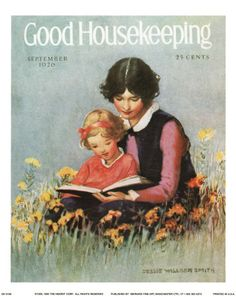 An old edition of Good Housekeeping magazine. Great photo of Mom and daughter together.