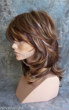 LARGE-FIT-3Tone-Deep-Auburn-Copper-Blonde-Multi-layers-Med-Long-Sarah-Wig