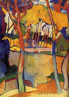 André Derain (France 1880-1954) Trois arbres, l'Estaque (1906) oil on canvas 100.3 x 79.9 cm