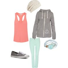 Hanging out, created by jamie-preston on Polyvore
