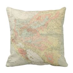 Vintage Map of Nicaragua (1903) Throw Pillow
