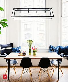 Beachy Dining Room Beadboard Ceiling Linear Dining Room Light Magnificent Pendant Lighting For Dining Room Inspiration