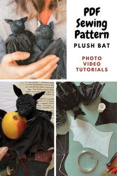 Fall Sewing Projects, Baby Diy Projects, Sewing Projects For Beginners, Kids Dolls, Child Doll, Stuffed Animal Patterns, Diy Stuffed Animals, Joann Crafts, Bat Pattern