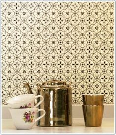 Tea 'pot' gold Pols Potten With onszelf Wallpaper, Old collection