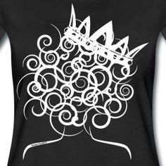 Curly Girl with Crown - Women's Premium T-Shirt Crown Painting, Crown Drawing, Crown Art, Afro Tattoo, Hair Tattoos, Black Girls With Tattoos, Girls With Sleeve Tattoos, Hair Tattoo Designs, Tattoo Ideas