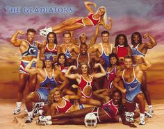 Gladiators TV Show. Always liked the one with no giant ear buds!