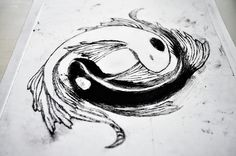 avatar koi fish yin yang tattoo - for my pisces sign Mini Tattoos, Body Art Tattoos, Anime Tattoos, Tatoos, Sketch Tattoo Design, Tattoo Designs, Yin Yang Fish, Yin Yang Tattoos, Tattoo Portfolio