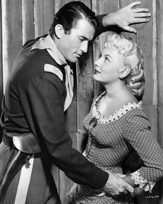 ONLY THE VALIANT (1951) - Gregory Peck & Barbara Payton - Produced by William Cagney - Directed by Gordon Douglas - Warner Bros. - Publicity Still.
