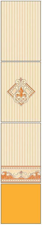 Millennium Tiles 200x300mm (8x12) Luster Concept Design Ivory Ceramic Wall Tiles - 712 - 711 - 710 - Mango Yellow