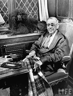 American author Booth Tarkington and his poodle. #poodle
