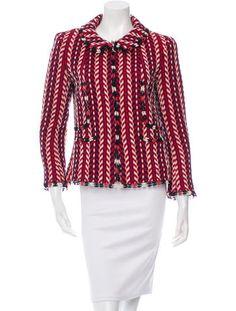 Chanel Wool Chevron Patterned Jacket,  Fall 2004