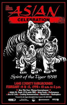 Oregon Asian Celebration poster circa 1998.