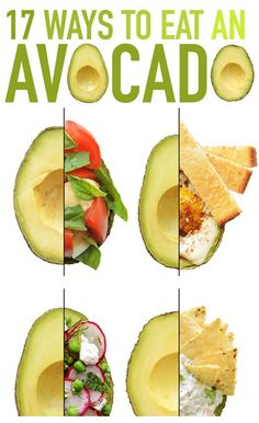 17 ways to eat an avocado For all of these recipes, use a super-ripe avocado and a big spoon.  Click the link below to learn more http://cliks.it/click/9uNa6