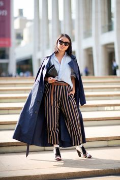 NYFW Street Style: Margaret Zhang. First sighting of the editor's cape!