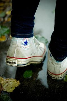 If you wear Chucks a lot like I do, then you'll understand this picture. This made me feel all warm and fuzzy inside...