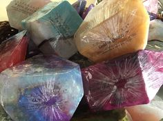 Soap Rocks are beautiful and available at Bath Junkie Carmel!!