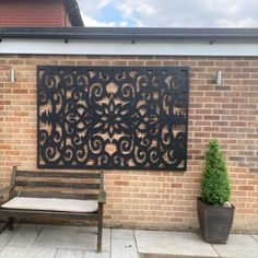 Metal Garden Screens, Outdoor Screens, Contemporary Garden, Contemporary Design, Garden Screening, Nice Comments, Elements Of Style, Wall, Inspiration