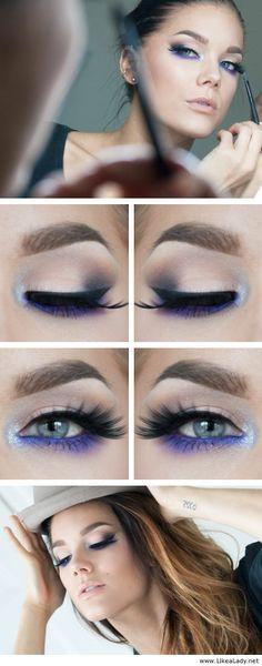 Electric blue (or purple?) Makeup