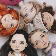 Doll Face Paint, Doll Painting, Sock Dolls, Doll Toys, Doll Crafts, Diy Doll, Rag Doll Tutorial, Homemade Dolls, Enchanted Doll