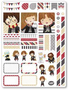 Wizard Friends Decorating Kit / Weekly Spread Planner Stickers for Erin Condren Planner, Filofax, Plum Paper