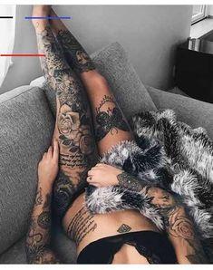 Ideas Fitness Model Tattoo Girls For 2019 Tattoo Bein Frau, Tattoo Arm Frau, Arm Tattoo, Leg Sleeve Tattoo, Snake Tattoo, Lion Tattoo, Cute Tattoos For Women, Girls With Sleeve Tattoos, Sexy Tattoos For Girls