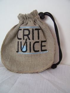 e70a53d6d28cb Crit Juice Dice Bag, Dungeons and Dragons Dice Pouch, Embroidered Linen and  Silk Drawstring Bag