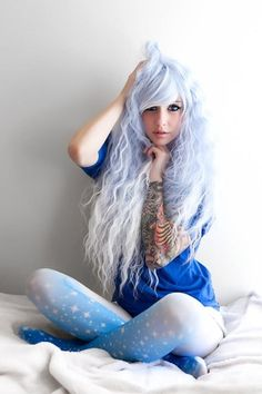 I am in love with the tights and hair // Cosplay Wig USA Rhapsody, all kinds of cheap fashion cosplay wigs ,shop at www.costwe.com