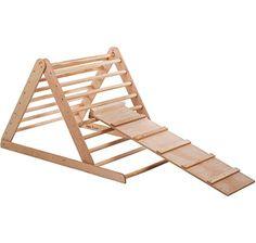 Dreieck-Rutsche Kletterdreieck Holz Pikler Montessori Schreibtafel Kinder Garten