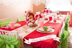 Vintage Strawberry Shortcake 1st Birthday Party   Minted and Vintage ~ Los Angeles, California