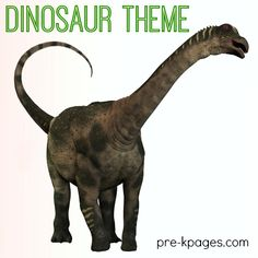 Dinosaur theme learning activities for preschool and kindergarten. Literacy, math, and more to make learning fun!