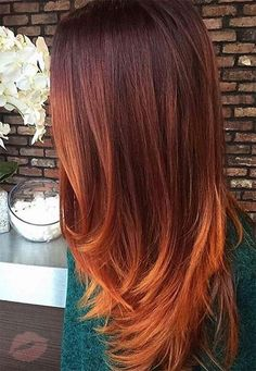 Lovely Copper Balayage - 60 Auburn Hair Colors to Emphasize Your Individuality - The Trending Hairstyle Hair Color Shades, Ombre Hair Color, Cool Hair Color, Hair Colour, Red Ombre, 50 Shades, Fall Hair Color For Brunettes, Fall Hair Colors, Copper Hair Colors