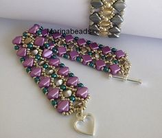 TUTORIAL Pinch pearl bracelet by MarinaBeads06 on Etsy