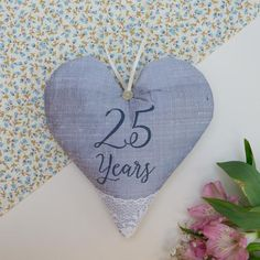 Silk Anniversary Heart Silver Wedding Anniversary Gifts, Newlyweds, Personalized Gifts, Bridesmaid, How To Make, Silk, Heart, Maid Of Honour, Just Married