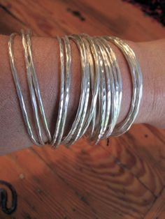 hill tribe silver bangles by shopgypsyriver on Etsy, $140.00