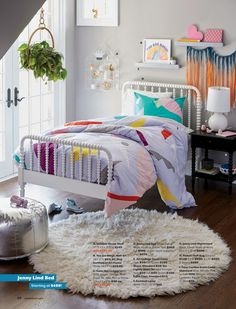 The Land of Nod Jenny Lind White Bed - without the hectic colors White Queen Bed, Queen Beds, Queen Room, Queen Art, Teen Girl Bedrooms, Big Girl Rooms, Jenny Lind Bed, Boys Bedroom Decor, Bedroom Ideas