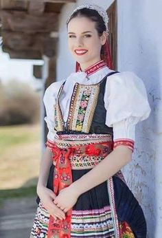 One from many nice Czech girls in one from many folk costumes from Czechia   #Folklore #folk #costume #Czechia #VisitCzechia #girls