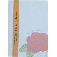 Phi Sigma Sigma New Sorority Notepad $4.75