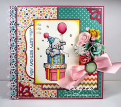 Wild Rose Studio card using Bella Party for Magnolia-licious http://magnoliastamps.us/store2/ by Cathy Lee of Cathy's Creative Place. #cards #crafts