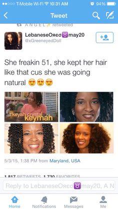 Black people age way better because of the melanin in their skin. Black Girls Rock, Black Girl Magic, Curly Hair Styles, Natural Hair Styles, Pelo Natural, My Black Is Beautiful, Curly Girl, Dark Skin, Hair Hacks