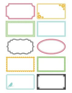free printable labels, I use them for my craft supplies boxes, great look!