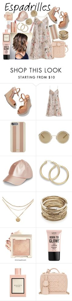 """Espadrilles"" by watermelonhead ❤ liked on Polyvore featuring Schutz, Zimmermann, Michael Kors, Dolce&Gabbana, Sole Society, L'Oréal Paris, NYX, Gucci, Chanel and Charlotte Tilbury"