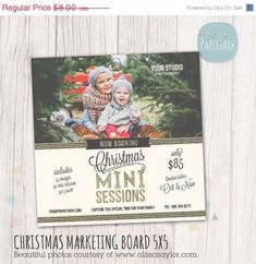 ON SALE Holiday Mini Sessions - Christmas Photography Marketing - Photoshop template - IC008 - INSTANT Download