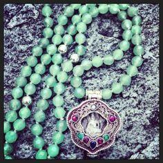 Karuna Malas: Aventurine and Silver Tara Prayer Box