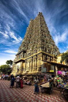 It's amazing what humans can create....especially in the name of their religion/beliefs. Madurai Temple, Tamil Nadu, India