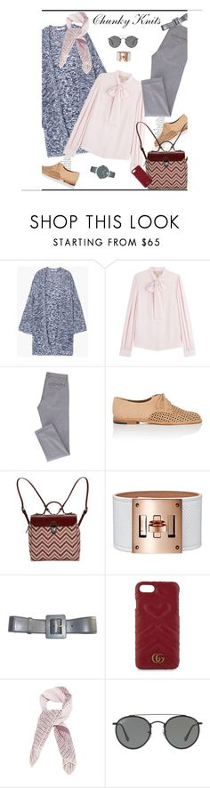 """Chunky Knits♥♥♥"" by marthalux ❤ liked on Polyvore featuring By Terry, MANGO, Michael Kors, Manolo Blahnik, Yves Saint Laurent, Gucci, Chanel, Ray-Ban, Movado and fallstyle"