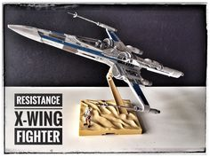 Resistance X-Wing Fighter with pilot painted build