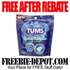 FREE AFTER REBATE – Tums Chewy Delights - Exp 11/2/13