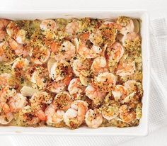 Garlic Baked Shrimp - Fast, delicious & low cal recipe!