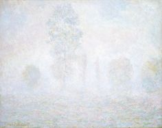 """""""Morning Haze"""" by Claude Monet. 1958 oil on canvas. (A bit too """"hazy"""".) In the collection of The National Gallery of Art, Washington, DC. From The Chester Dale Collection."""
