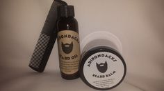 Alcohol-Free, All Hair Types Beard Kit Beard Oil 2.oz + Beard Balm 2oz + Comb   #Adirondacksbeardoil